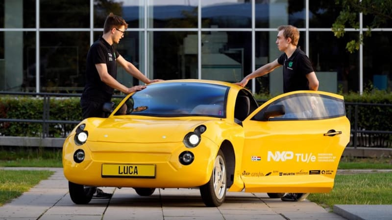 Meet Luca, the electric car built from ocean waste