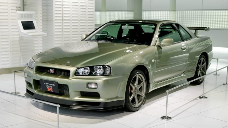 Rare Nissan R34 Skyline GT-R fetches record sum at auction