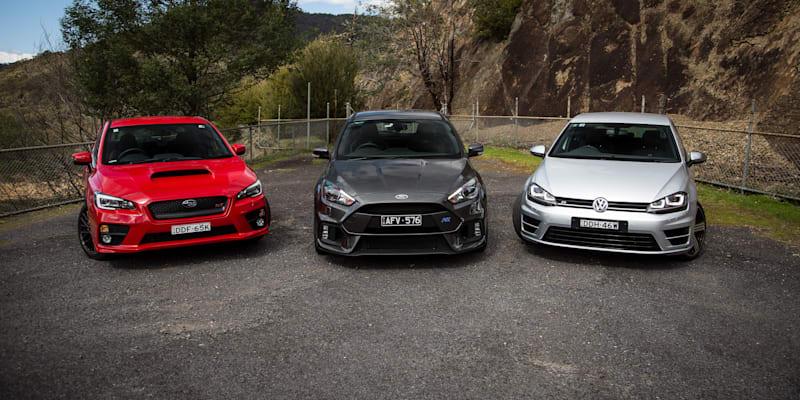Best of the best - Ford Focus RS v Subaru WRX STI v Volkswagen Golf R Comparison: Road Test