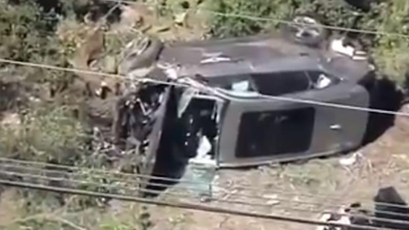 Tiger Woods crashes 2021 Genesis GV80 loan car