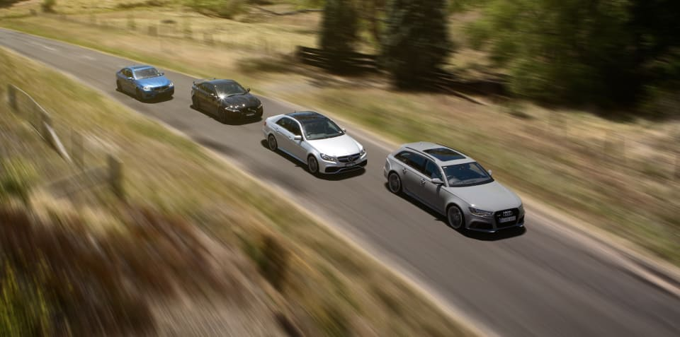 400kW Club Comparison : Audi RS6 v BMW M5 v Jaguar XFR-S v Mercedes-Benz E63 S AMG