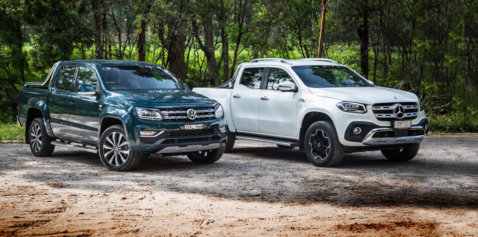 70a4e33df9a2e3 2019 Mercedes-Benz X350d v Volkswagen Amarok Ultimate 580 comparison