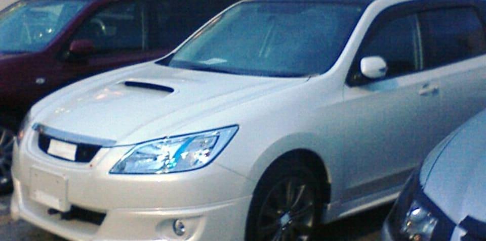 Subaru Exiga spied