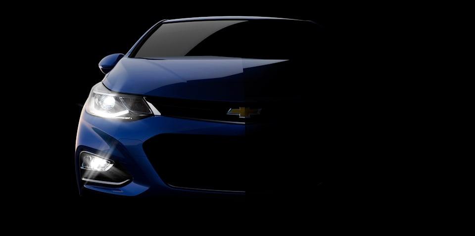 2016 Chevrolet Cruze front-end teased