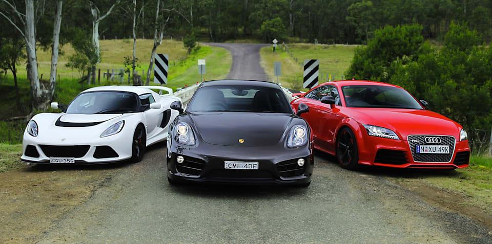Sports car comparison: Porsche Cayman v Audi TT RS v Lotus Exige S
