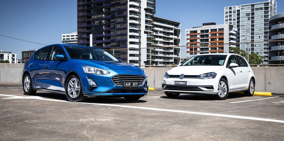 3e3dc7fdb630 2019 Ford Focus v Volkswagen Golf comparison
