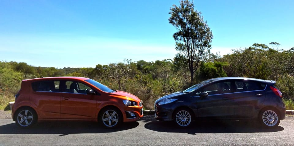 Ford Fiesta Sport v Holden Barina RS : Comparison review