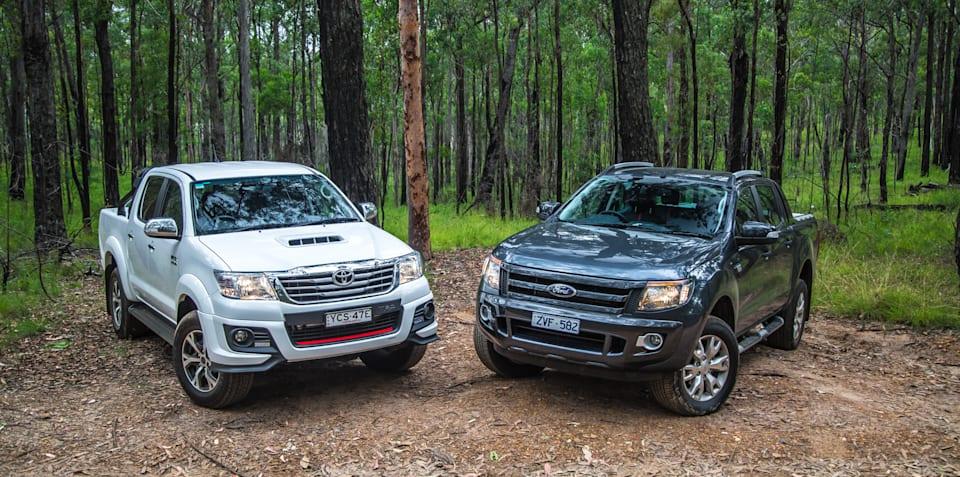 Ford Ranger Wildtrak v Toyota HiLux Black Edition : Comparison review