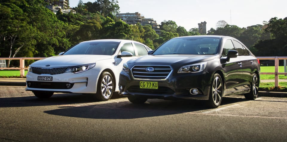 Kia Optima 2.4 Si v Subaru Liberty 2.5i Premium Comparison