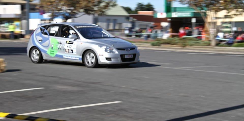 Hyundai i30 CRDi beats four Mitsubishi EVO's in Targa Tasmania