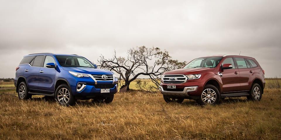 Ford Everest Trend v Toyota Fortuner Crusade comparison