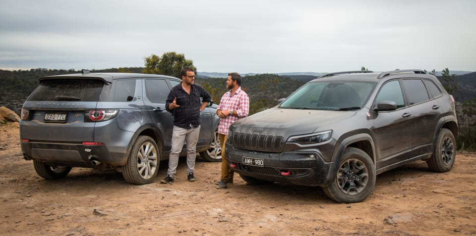 2019 Jeep Cherokee Trailhawk v Land Rover Discovery Sport Si4 comparison
