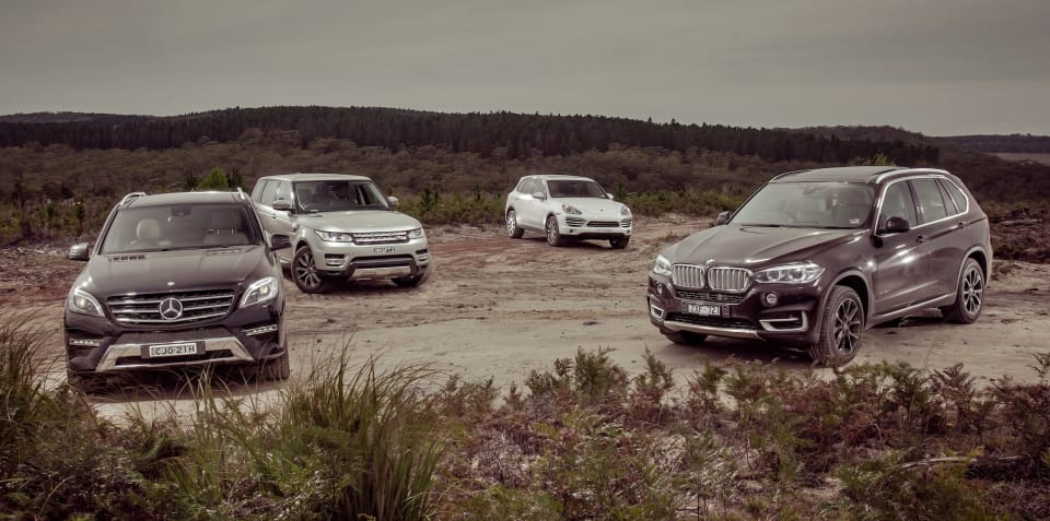 Luxury SUV Comparison : BMW X5 v Mercedes-Benz ML-Class v Range Rover Sport v Porsche Cayenne