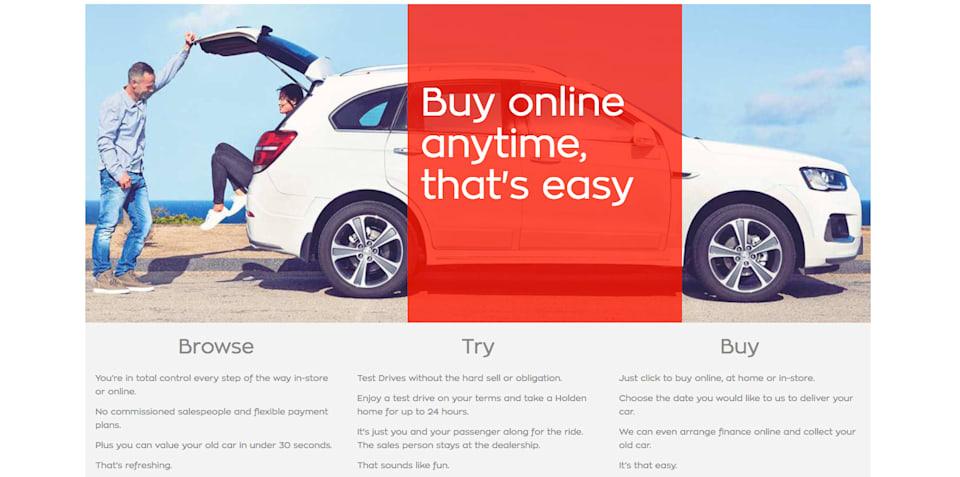 Holden launches online sales pilot