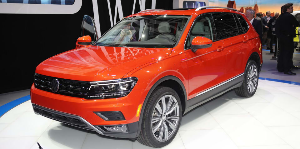 2018 Volkswagen Tiguan Allspace revealed in Detroit: Seven-seat SUV here next year