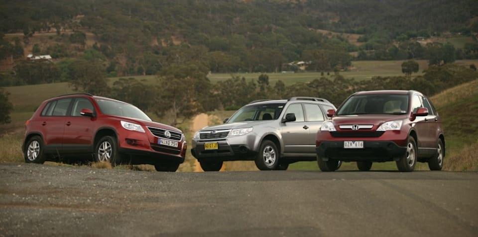 SUV Comparison Volkswagen Tiguan vs. Honda CR-V vs. Subaru Forester