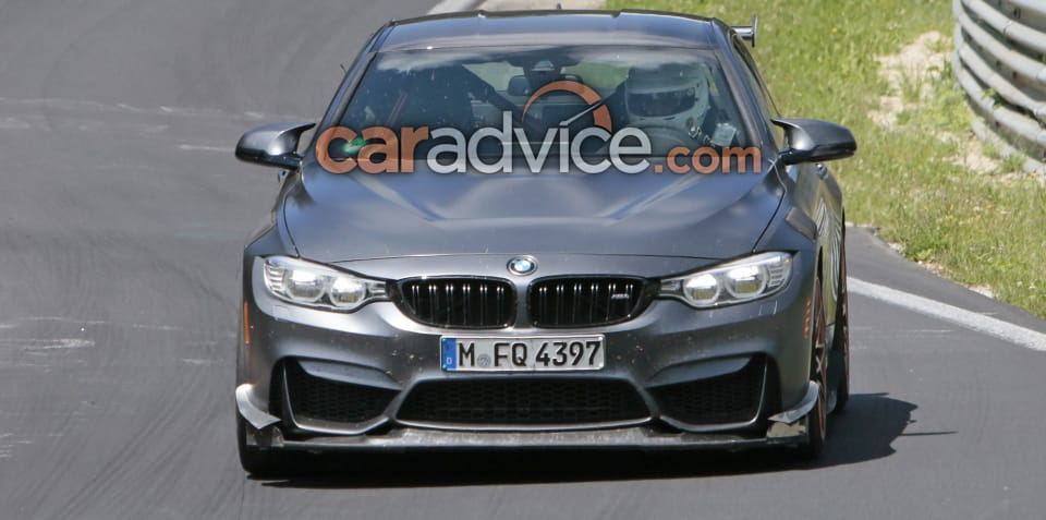 BMW M4 'CSL' spied at the Nurburgring