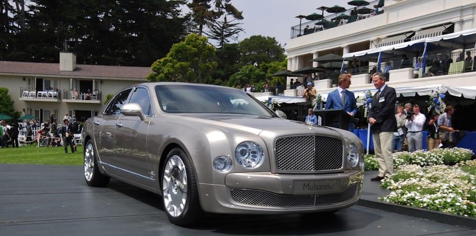Bentley Mulsanne unveiled at Pebble Beach