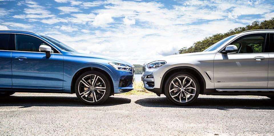 2018 BMW X3 xDrive30i v Volvo XC60 T6 R Design comparison