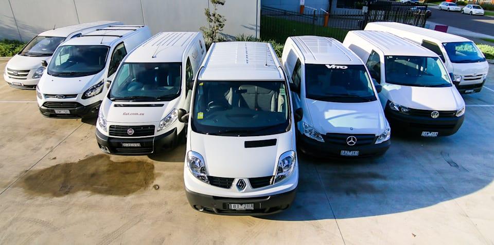 578c0b4621 Van comparison   Toyota HiAce v Hyundai iLoad v Ford Transit Custom v  Renault Trafic v Fiat ...