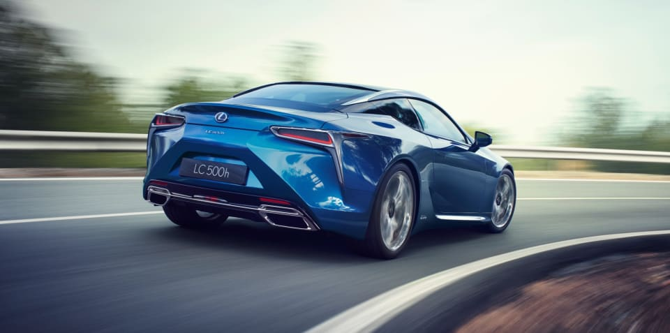 Lexus LC F trademark hints at flagship performance coupe