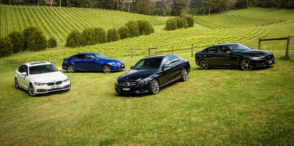 BMW 330i v Jaguar XE 25t R-Sport v Lexus IS200t F Sport v Mercedes-Benz C250 : Comparison Review