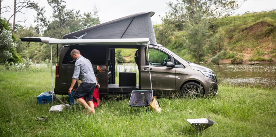 Camping in the 2019 Mercedes-Benz Marco Polo