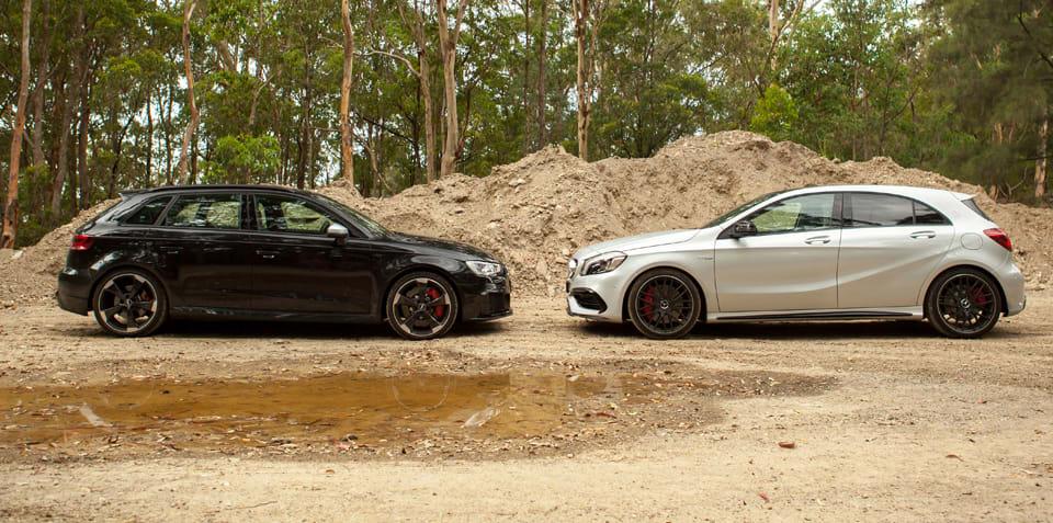 Audi RS3 vs Mercedes-AMG A45 Comparison: Dynamic Test