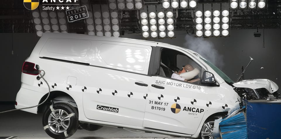 LDV G10: ANCAP three-star crash test rating confirmed