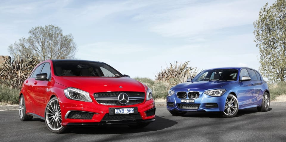 BMW M135i v Mercedes-Benz A45 AMG: Comparison Review
