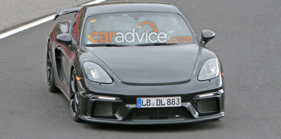 Porsche 718 Cayman GT4 spied at the 'Ring