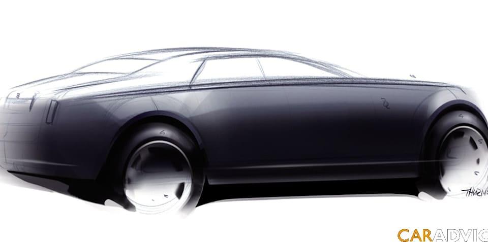 Official sketches of Rolls Royce RR4 sedan