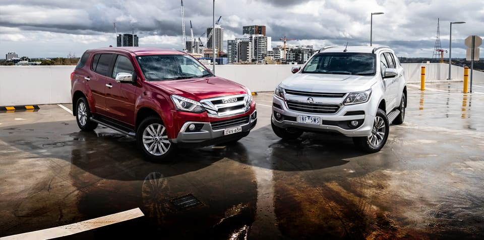 2018 Holden Trailblazer LTZ v Isuzu MU-X LS-U comparison