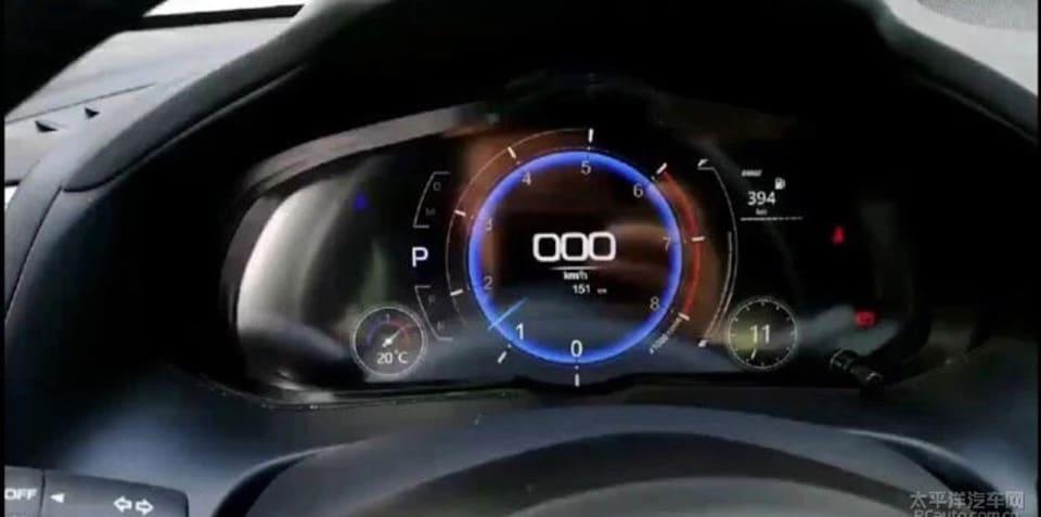 Mazda 3 digital driver display revealed in spy photos
