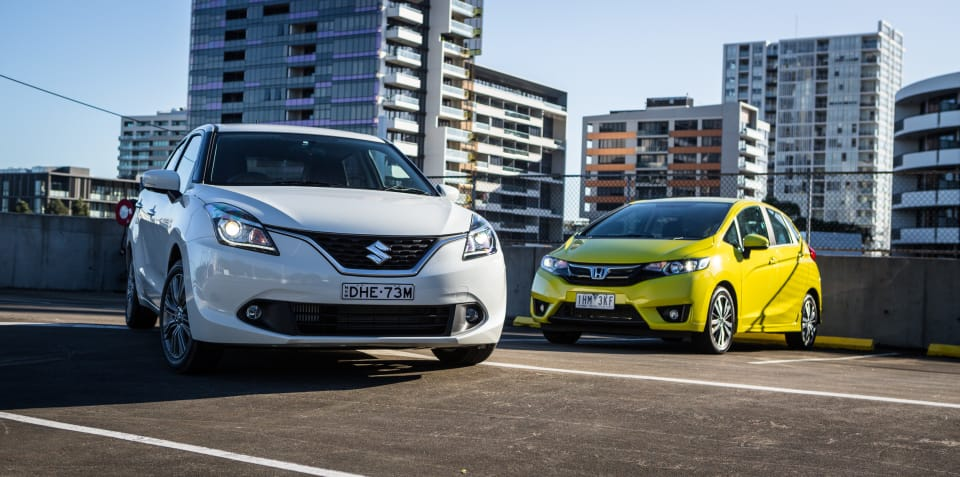 Honda Jazz v Suzuki Baleno comparison