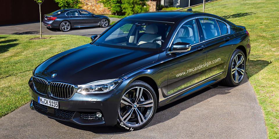 2017 BMW 5 Series sedan and Touring wagon rendered
