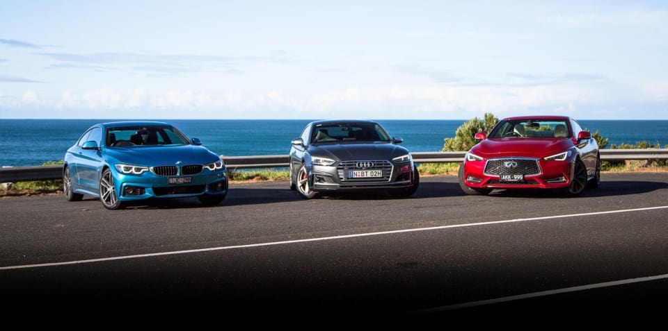 Audi S5 v BMW 440i v Infiniti Q60 Red Sport comparison