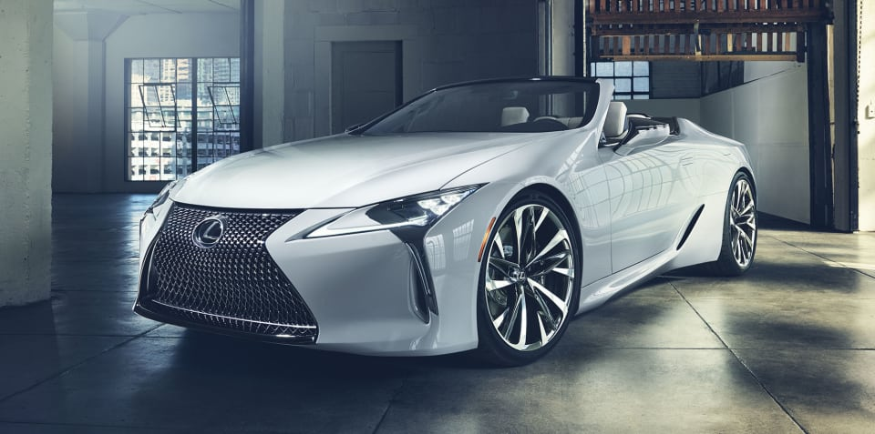 Lexus LC Convertible concept revealed
