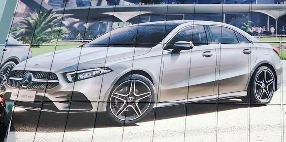 2018 Mercedes-Benz A-Class Sedan leaked
