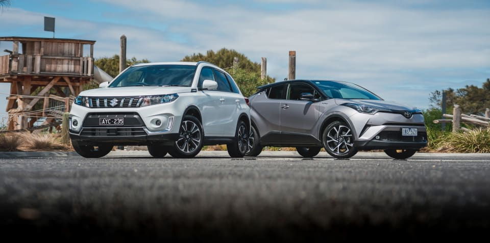 2019 Suzuki Vitara Turbo v Toyota C-HR Koba comparison