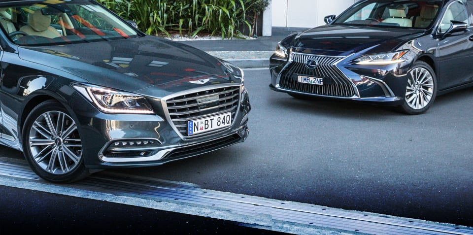 2019 Genesis G80 v Lexus ES300h Sports Luxury comparison