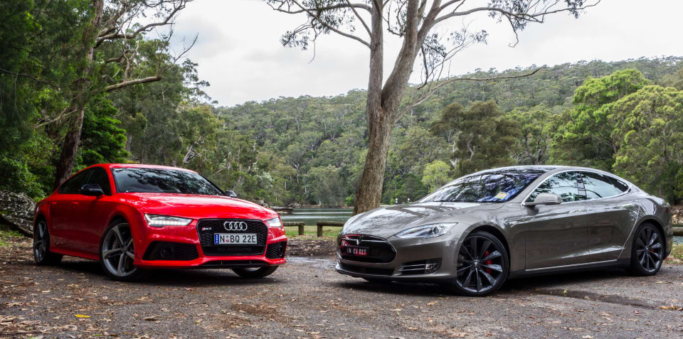 Audi Rs7 Sportback V Tesla Model S P85d Comparison Review