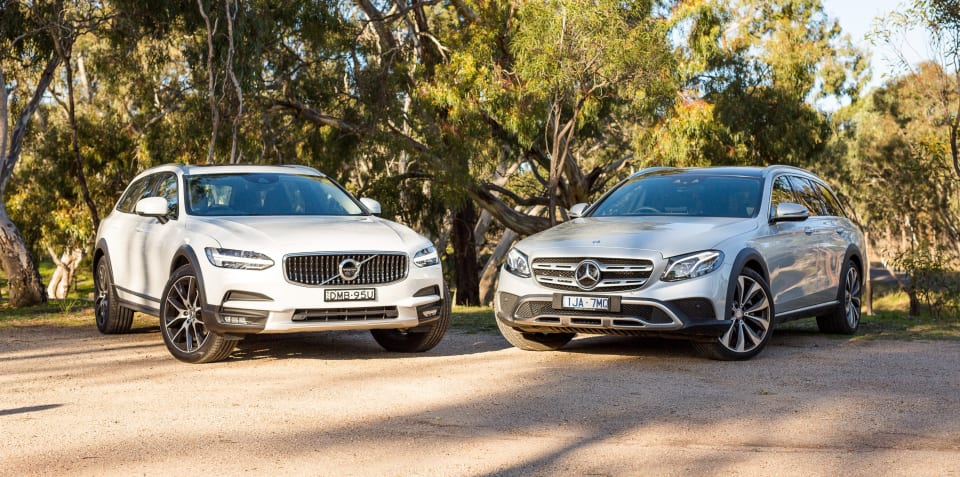Mercedes-Benz E220d All Terrain v Volvo V90 Cross Country comparison