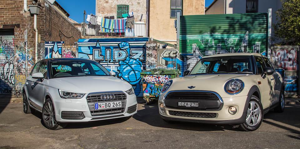 Audi A1 Sportback 1.0 TFSI v Mini 5 Door One : Affordable premium hatchback comparison test