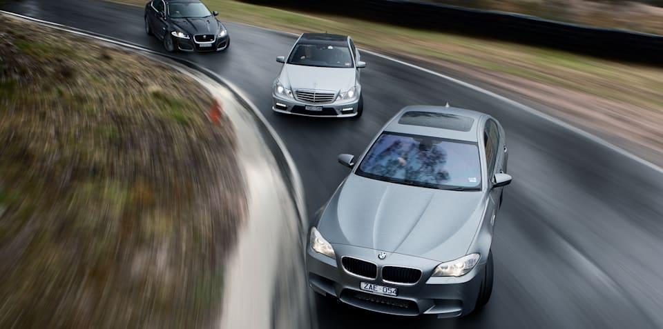 BMW M5 v Jaguar XFR v Mercedes-Benz E63 AMG: Comparison Review