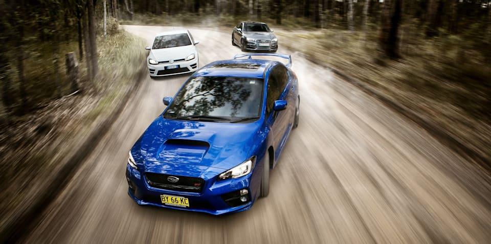 Sports car comparison : Subaru WRX STI v Audi S3 v Volkswagen Golf R