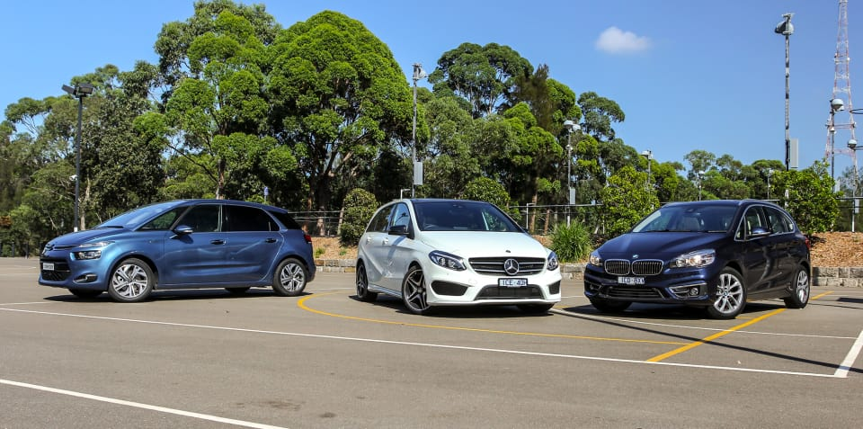 BMW 2 Series Active Tourer v Mercedes-Benz B-Class v Citroen C4 Picasso : Comparison review