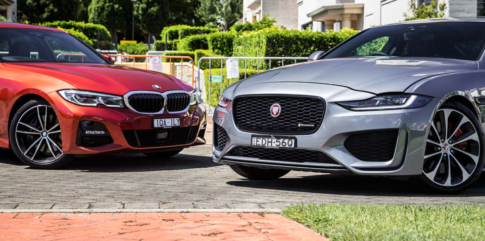 2020 BMW 330i v Jaguar XE HSE comparison review