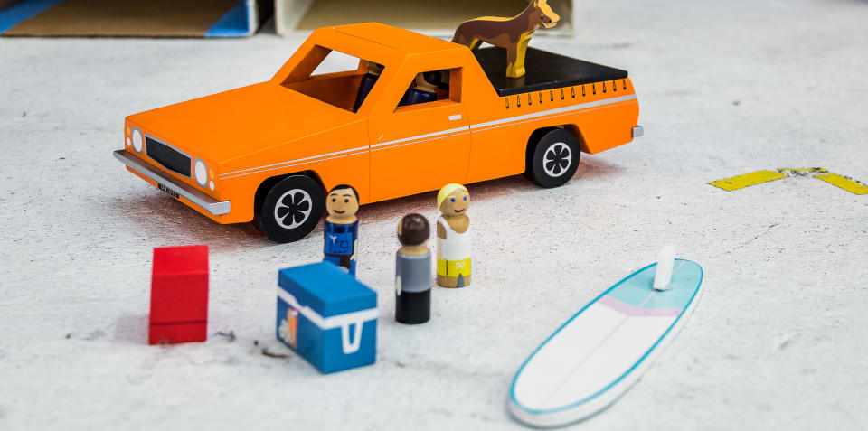 Iconic Aussie ute immortalised as wooden toy: Your chance to win!