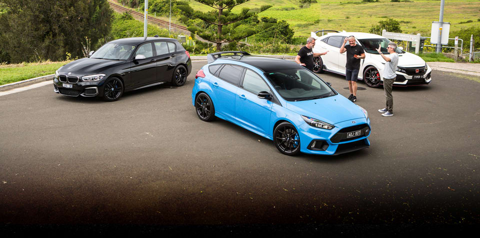 2018 BMW M140i v Ford Focus RS LE v Honda Civic Type R comparison